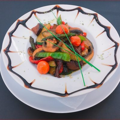 Salteado de verduras con soja y miel