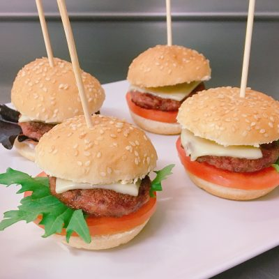 mini hamburguesas